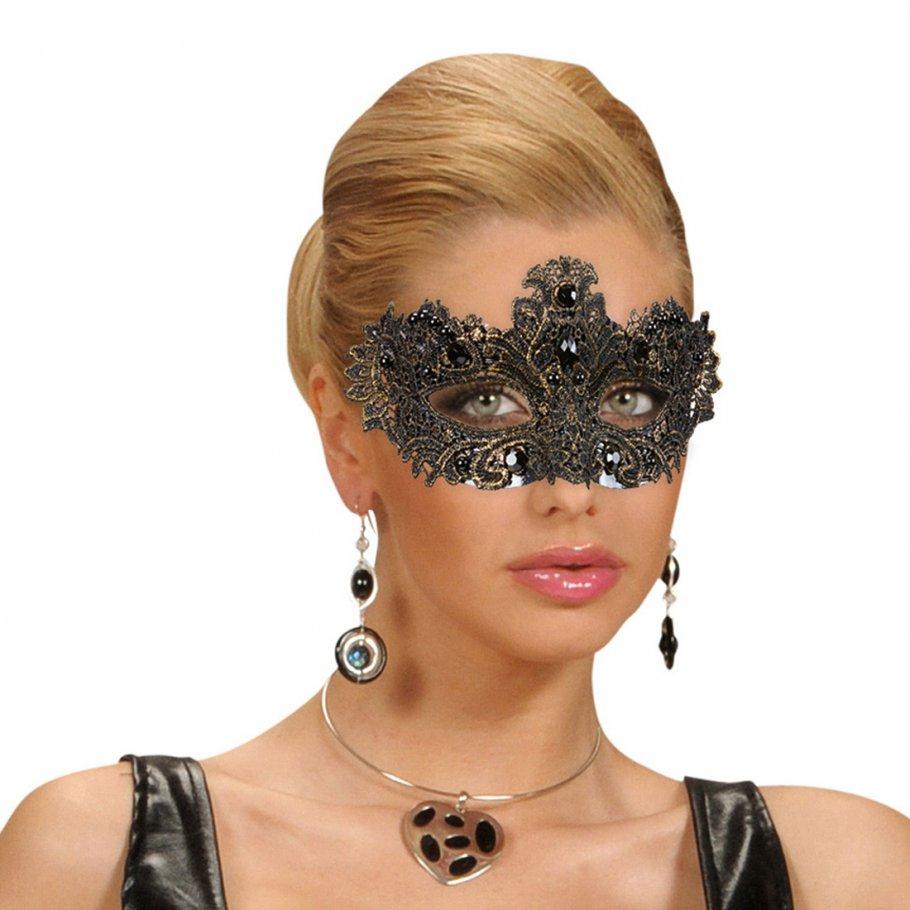 Edle venezianische Augenmaske Gothic Maske gold, 9,99