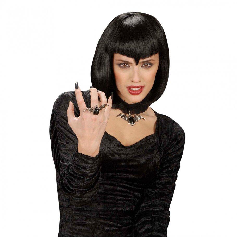fledermausring gothic ring vampirring halloween schmuck 3 99. Black Bedroom Furniture Sets. Home Design Ideas