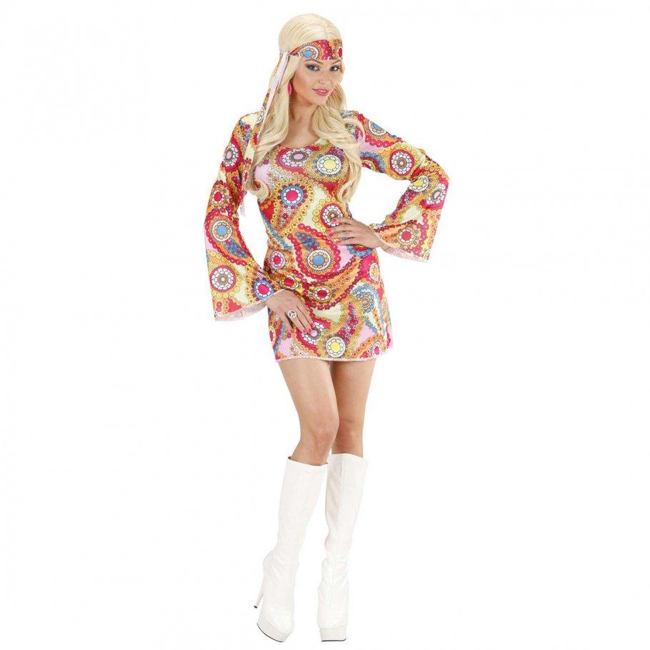 Flower Power Kostüm Hippie Kleid 70er Jahre Outfit Buntes ...