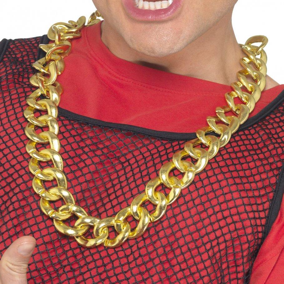 Goldkette gangster  Gangster Kette Goldkettchen Maxi Kette Rapperkette Kette gold, 6,99 €