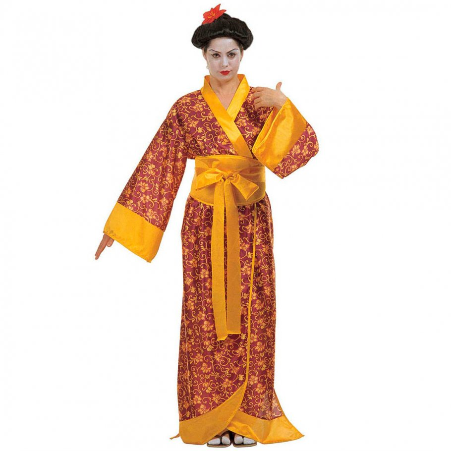 geisha kost m mit kimono japanerin asiatin 28 99. Black Bedroom Furniture Sets. Home Design Ideas