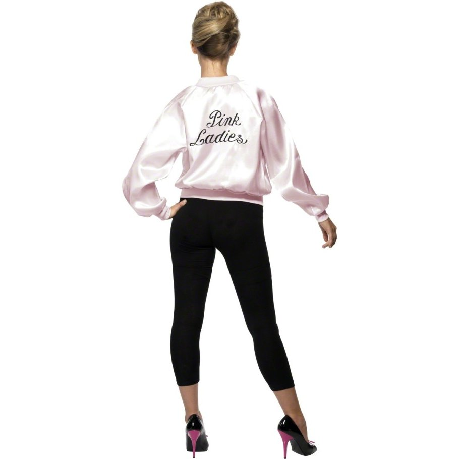 Grease Kostüm Pink Lady Jacke pink XS 32/34 Grease Outfit Pink Ladies ...