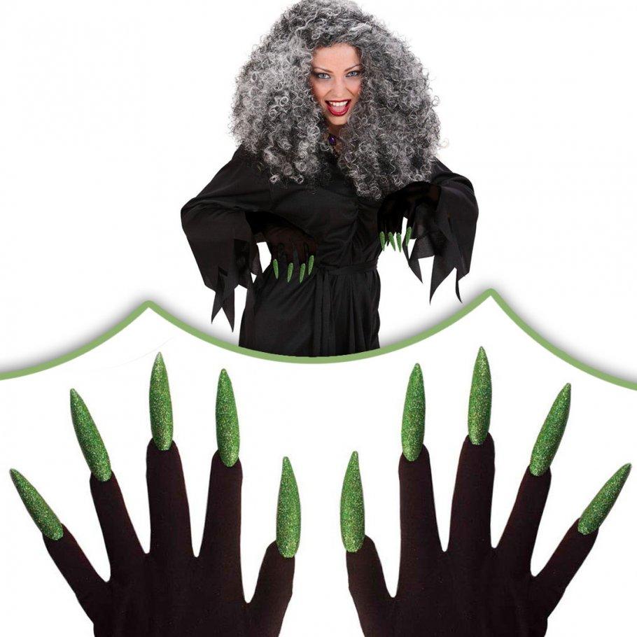 gr ne halloween hexen handschuhe hexenhandschuhe 5 99. Black Bedroom Furniture Sets. Home Design Ideas