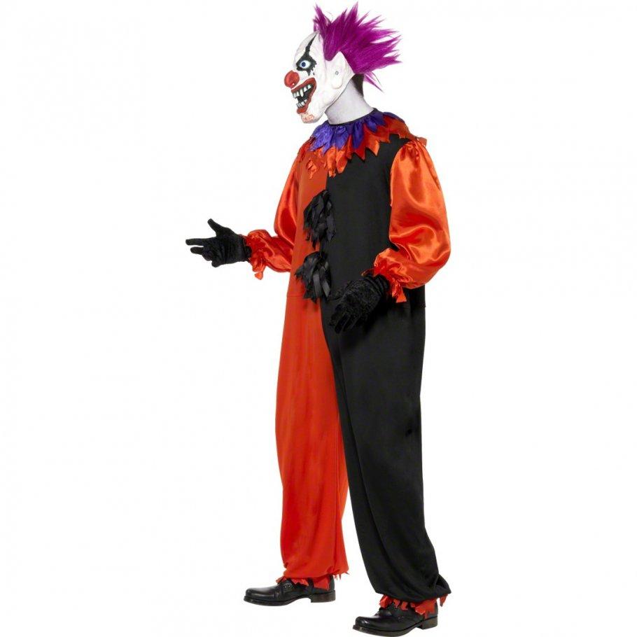 grusel clown kost m clownkost m bobo orange wei m 48 50 clown kost m clownskost m horrorclown. Black Bedroom Furniture Sets. Home Design Ideas