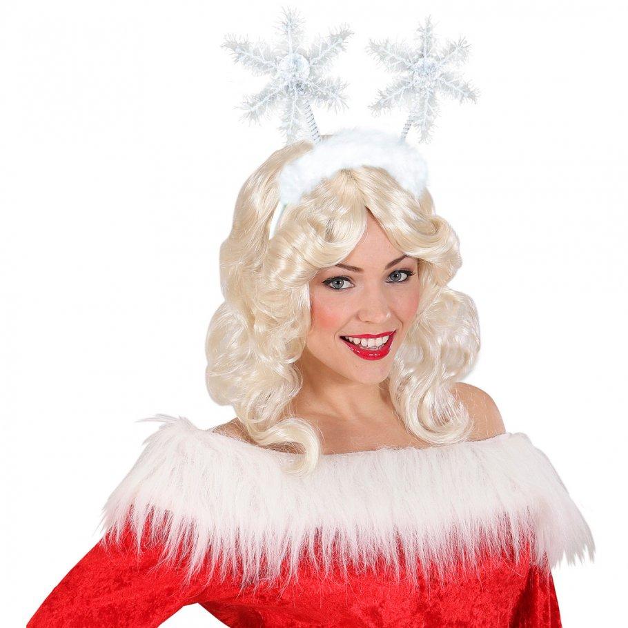 haarreif mit schneeflocken weihnachtself weihnachten haarreifen schneeflocke haarschmuck. Black Bedroom Furniture Sets. Home Design Ideas