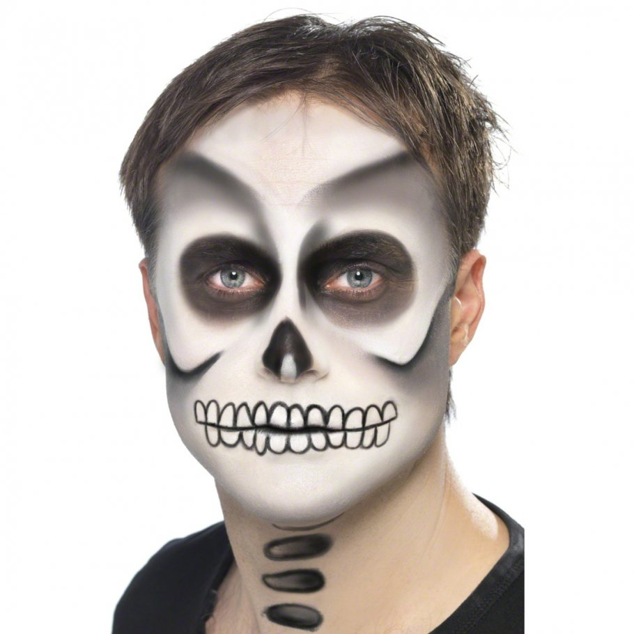 Skelett make up halloweenschminke skelettschminke makeup kost m zubeh r 3 99 - Maquillage squelette garcon ...