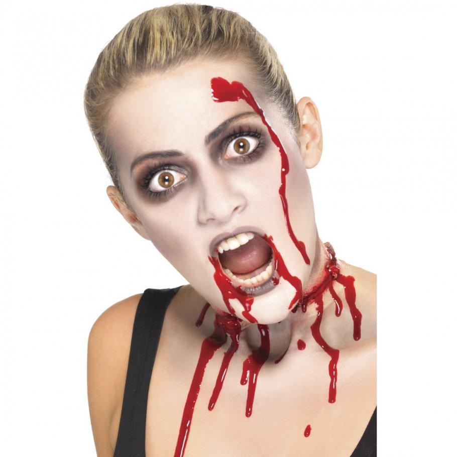 halloween schminke zombie makeup set mit blutkapsel blutige zombieschminke monster make up. Black Bedroom Furniture Sets. Home Design Ideas
