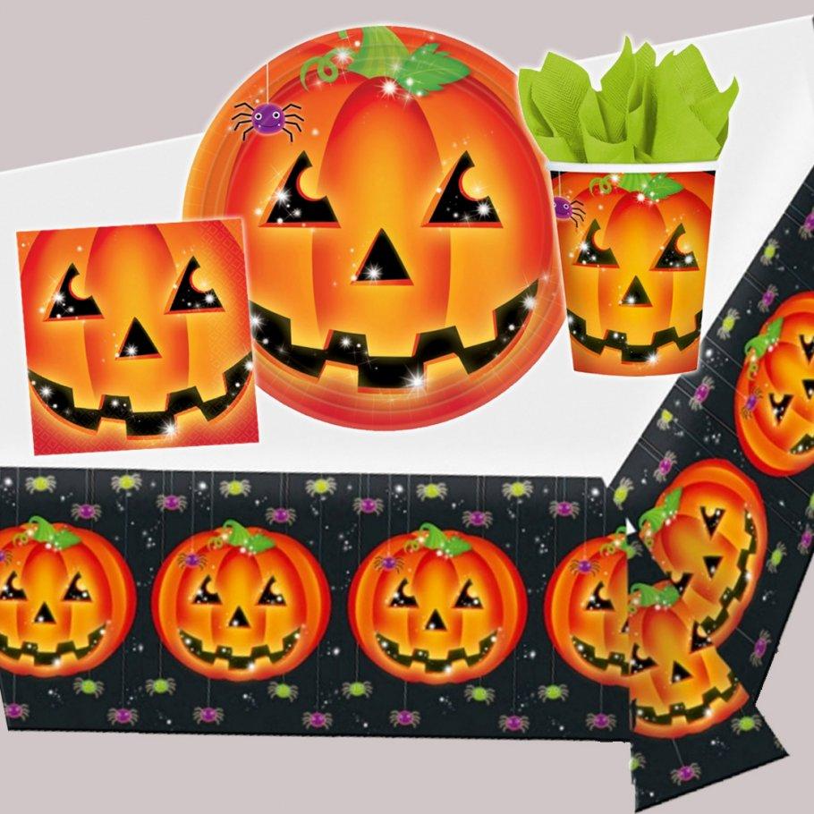 halloween party k rbis dekoration halloweenparty kinder deko par. Black Bedroom Furniture Sets. Home Design Ideas
