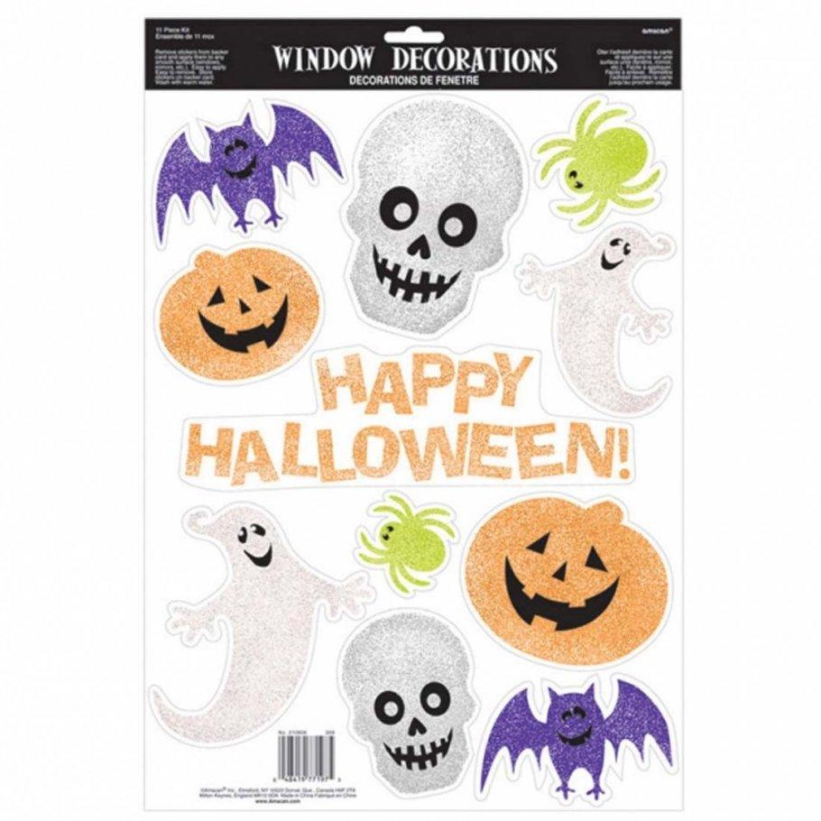 Happy halloween fensterdeko 45 7 x 30 5 cm kinder fensterdekoration - Halloween fensterdeko ...
