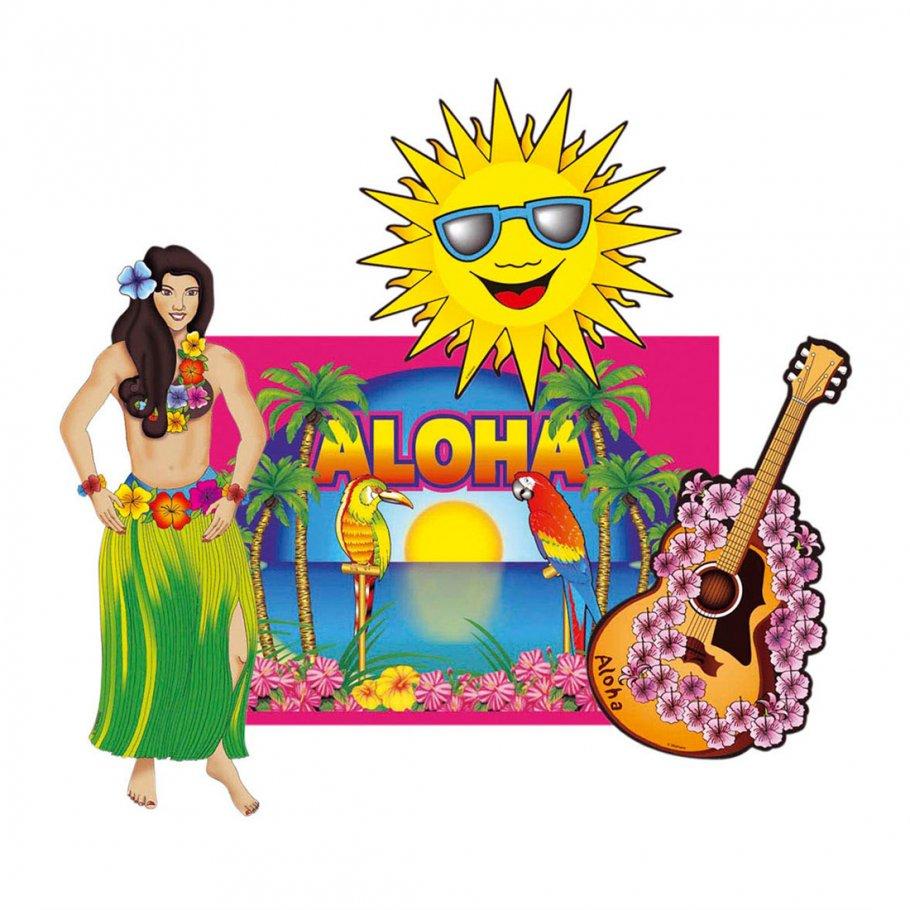 Hawaii Deko hawaii deko aloha dekoration 50 cm strand partydeko 4 99