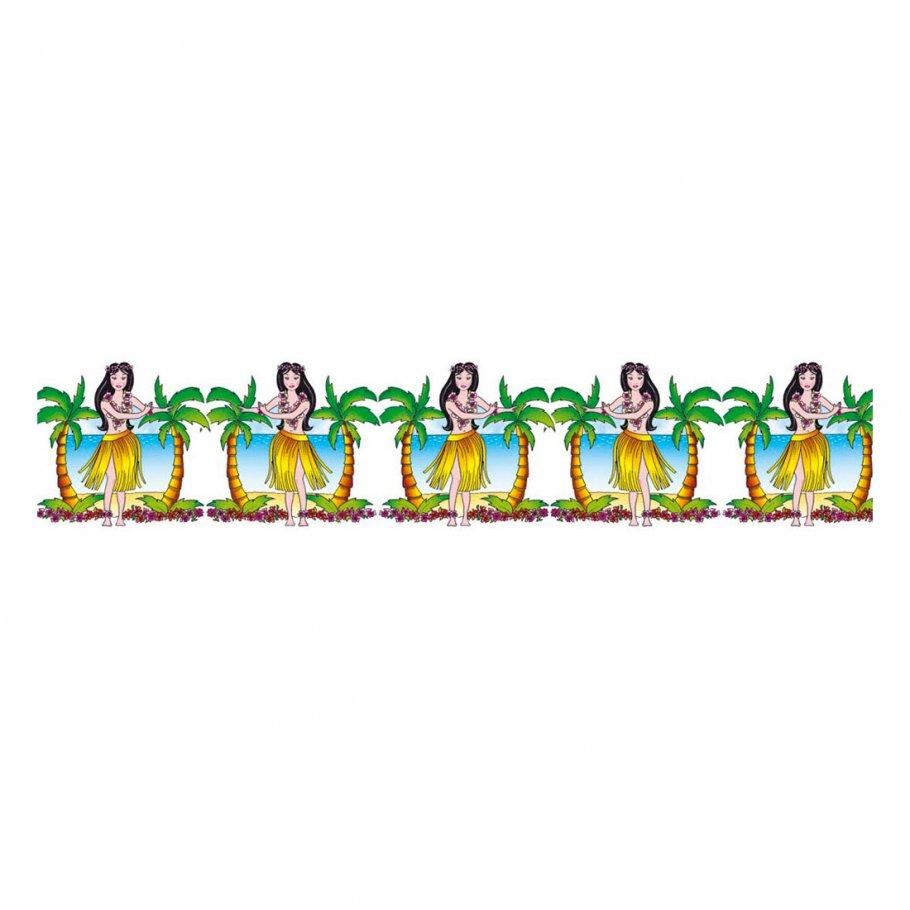 Hawaii girlande hula t nzerin partygirlande 3 m s dsee - Dekokette fenster ...