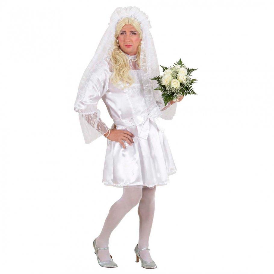 Herren Braut Kostüm Drag Queen Kleid weiß XL 54/56, 29,99 €