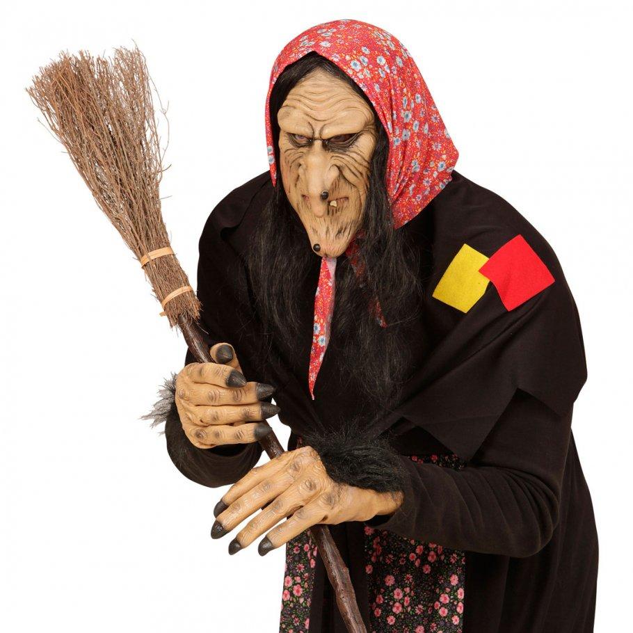 hexen maske hexenmaske mit haaren faschingsmaske hexe. Black Bedroom Furniture Sets. Home Design Ideas