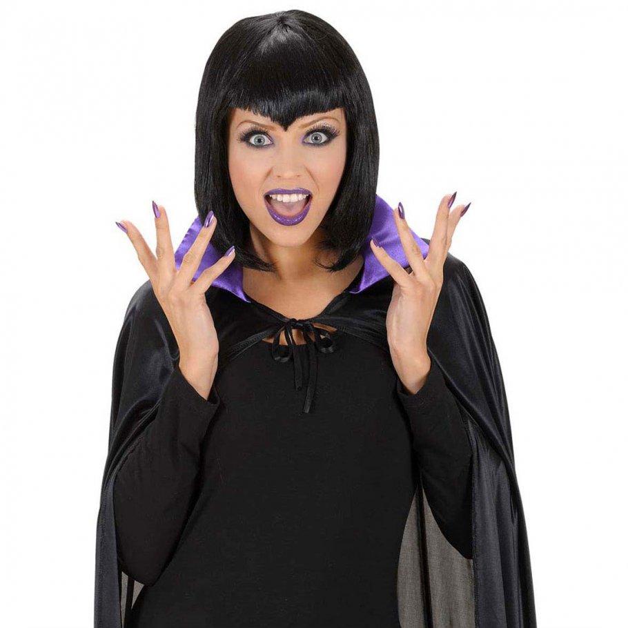Hexen set halloween schminke wimpern und n gel lila for Schminken 20er