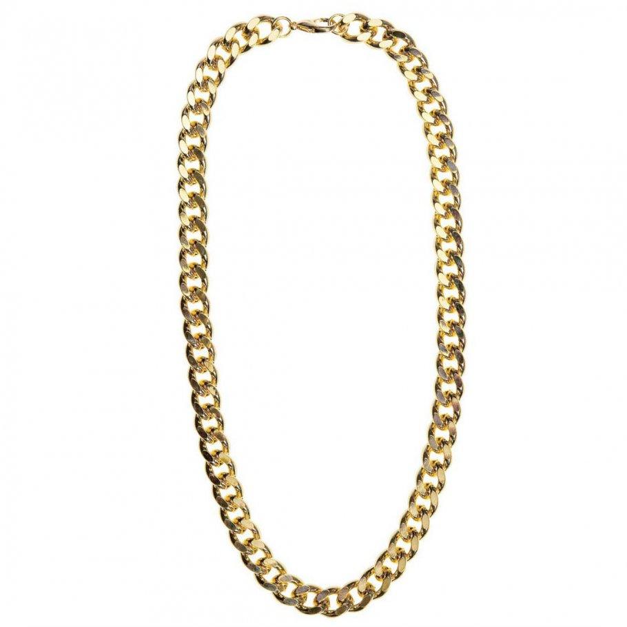 Hip hop goldkette  Hip Hop Kette Goldene Halskette Schmuck Imitat, 7,99 €