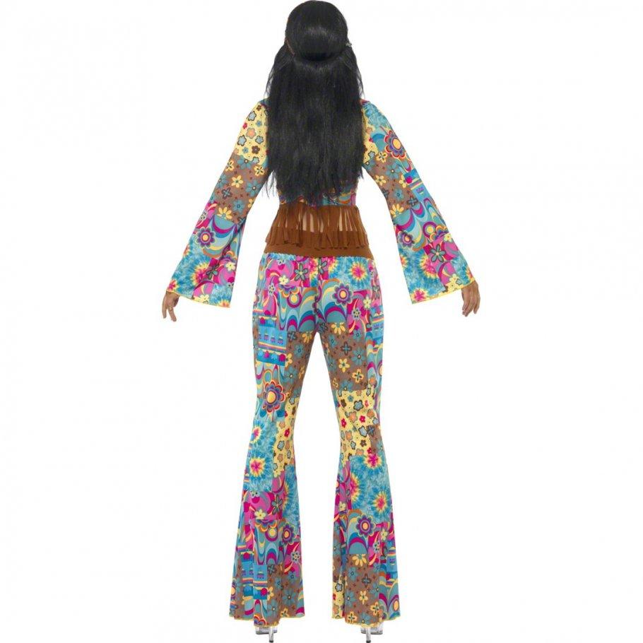 hippie kost m damen 70er jahre outfit hippiekost m flower. Black Bedroom Furniture Sets. Home Design Ideas