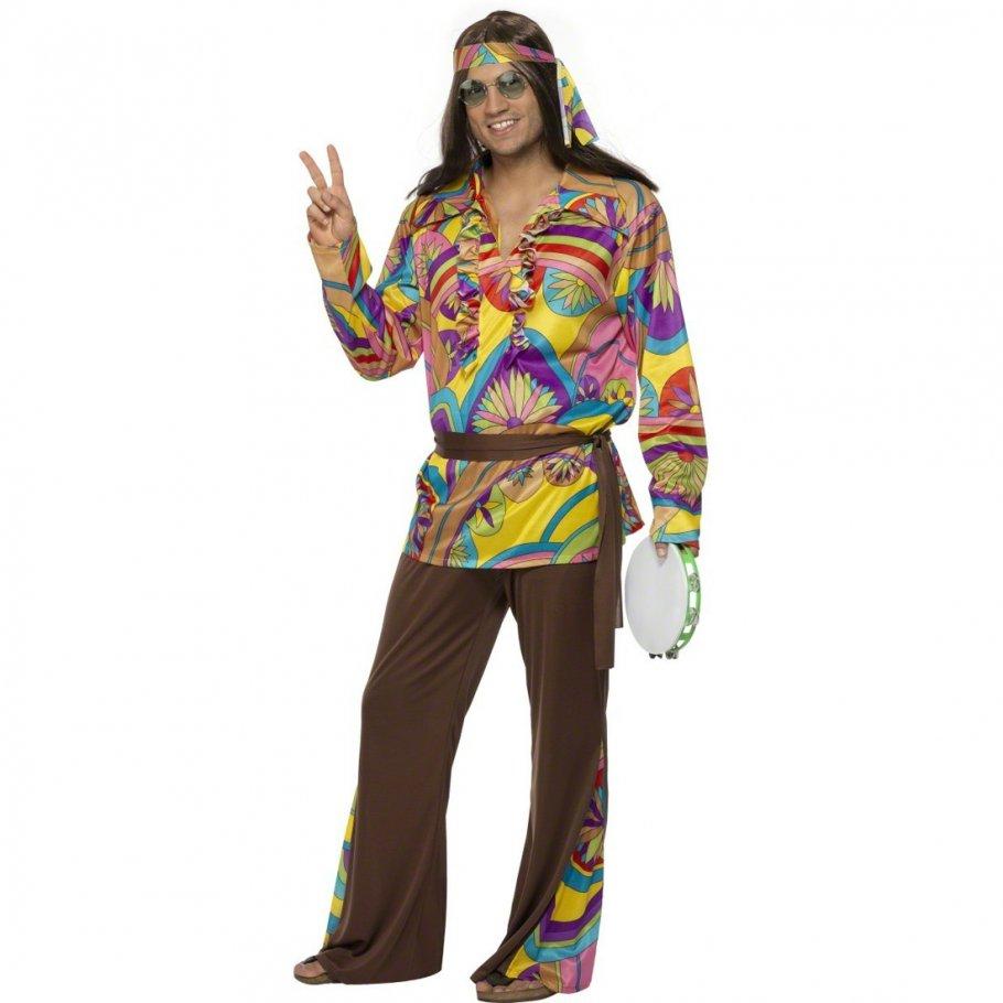 hippie kost m herren l 52 54 hippiekost m flower power. Black Bedroom Furniture Sets. Home Design Ideas