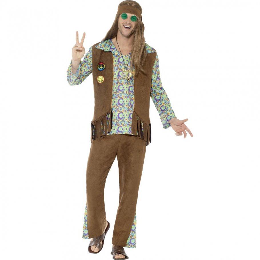 Hippie Outfit Herren Flower Power Kostu00fcm Mann 4499