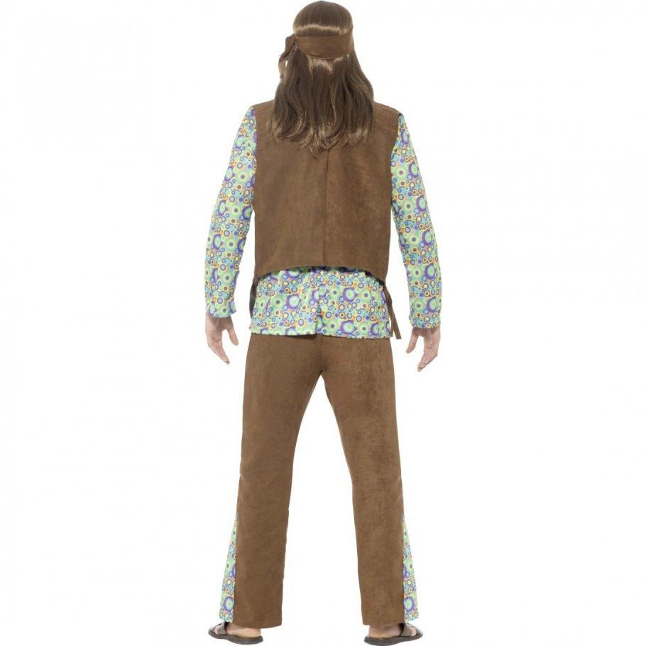 Hippie Outfit Herren Flower Power Kostu00fcm Mann L (52/54) 4499