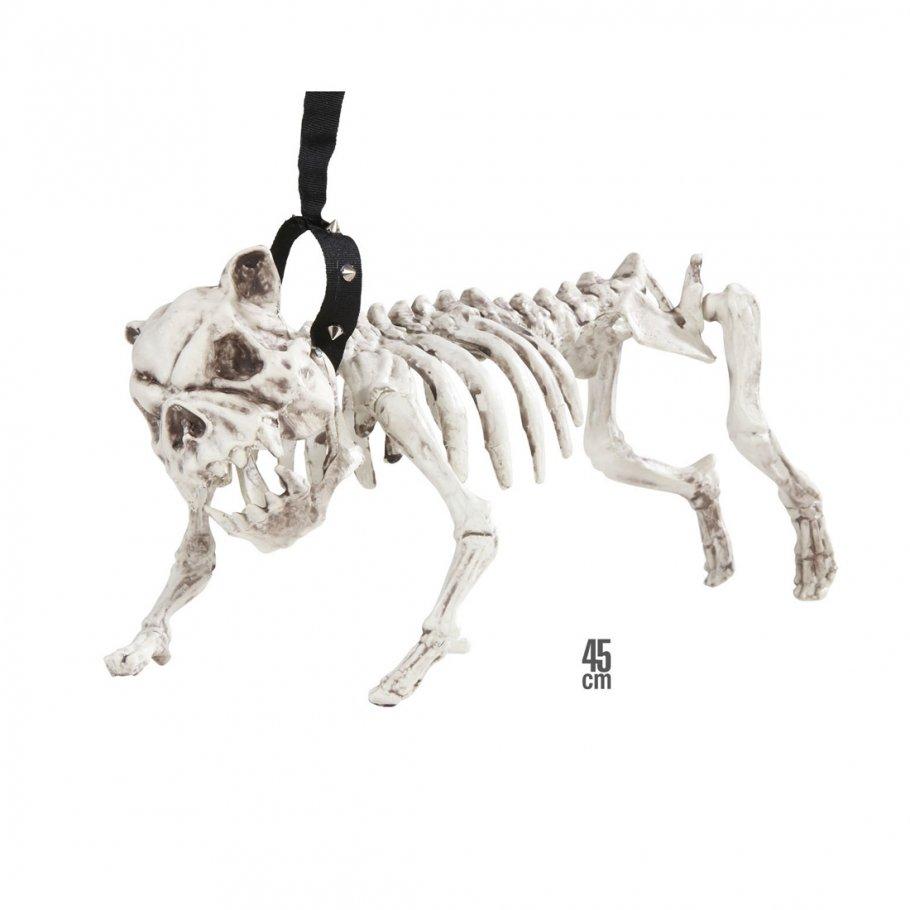 hundeskelett mit leine skelett deko hund 45 cm knochen