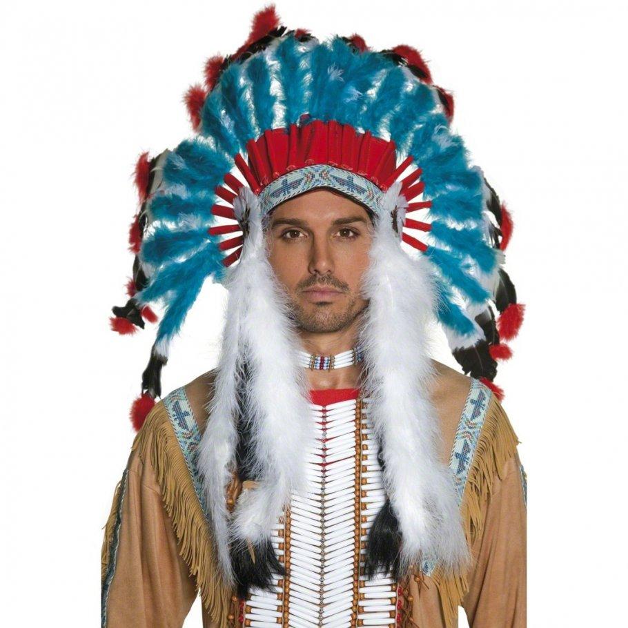 Indianerschmuck  Indianer Schmuck bunt Indianerschmuck Kopfschmuck Federschmuck ...