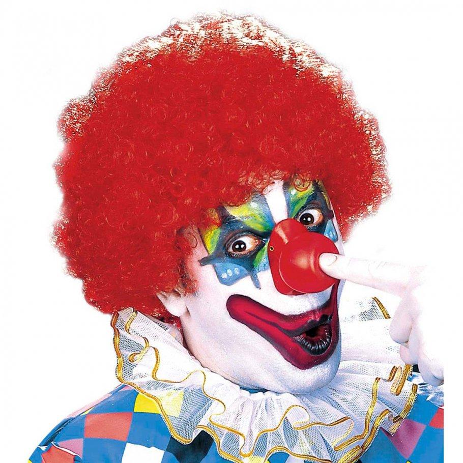 Karneval clown per cke rot faschingsper cke 7 99 for Clown schminken bilder