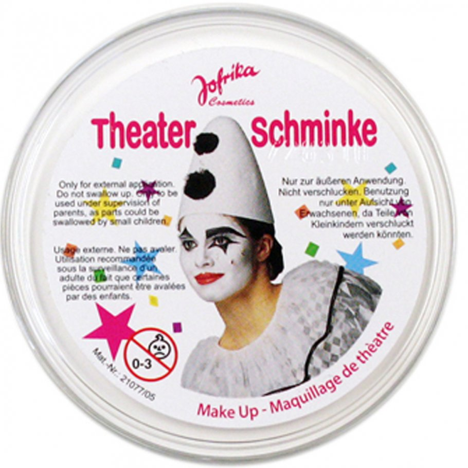 karneval make up clownwei wei fasching schminke 3 99. Black Bedroom Furniture Sets. Home Design Ideas