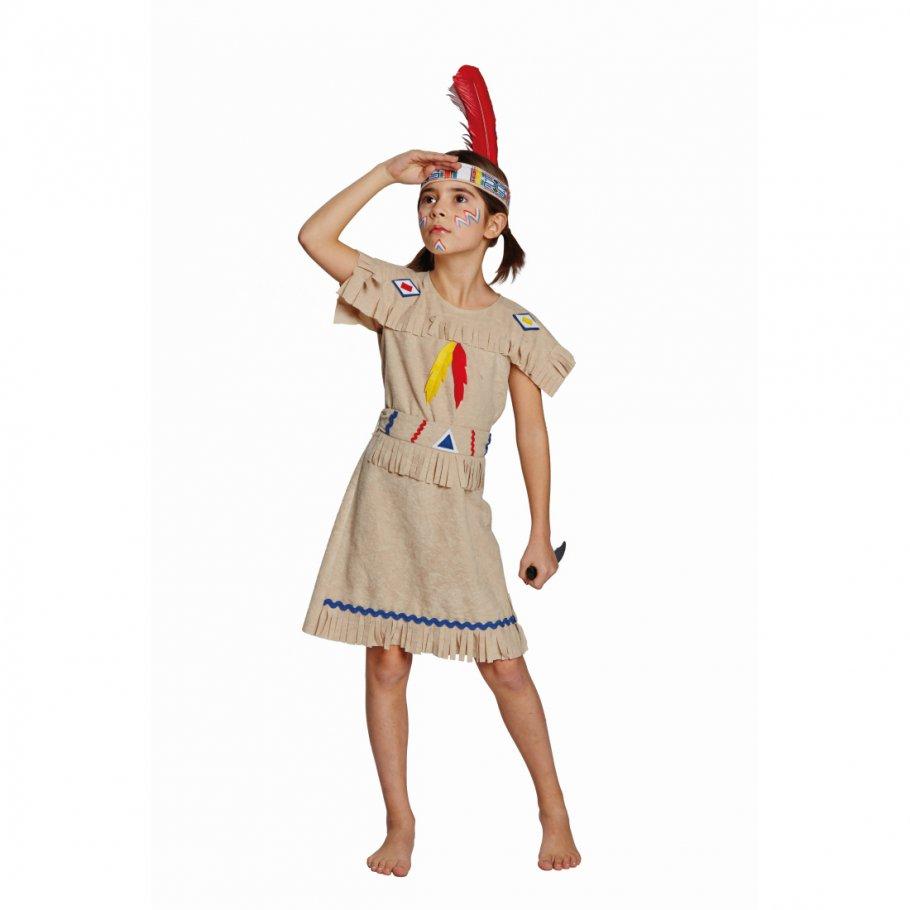 kinder indianerkleid indianerin kost m squaw indianer kleid pocahontas indianerkost m western. Black Bedroom Furniture Sets. Home Design Ideas