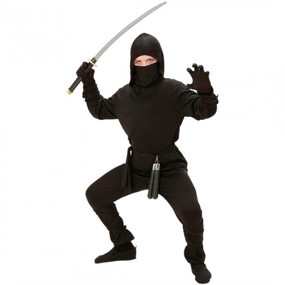 kinder kost m ninja k mpfer samurai s 128 cm 5 7 jahre 13 49. Black Bedroom Furniture Sets. Home Design Ideas