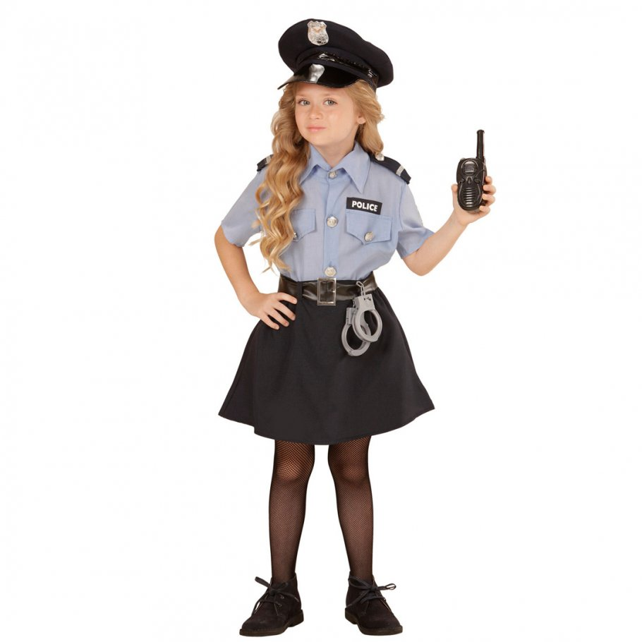 kinder polizistin kost m polizeikost m m dchen 23 99. Black Bedroom Furniture Sets. Home Design Ideas