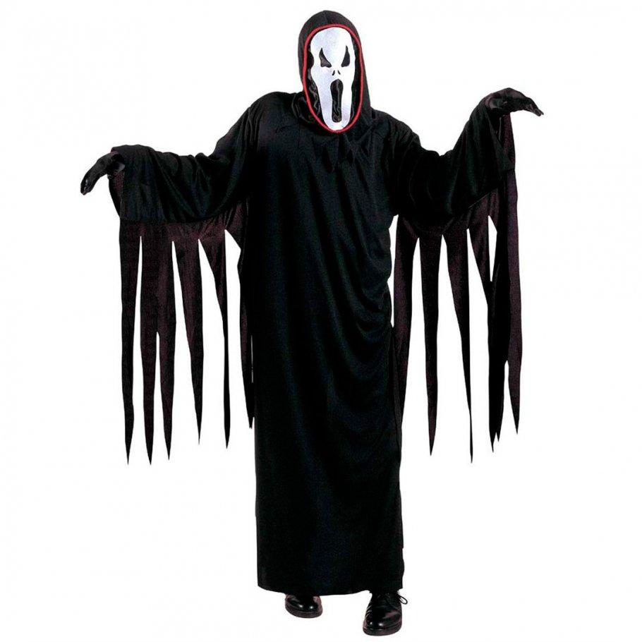 kinder scream kost m halloween geist schwarz l 158cm 11 13 jahre 16 49. Black Bedroom Furniture Sets. Home Design Ideas