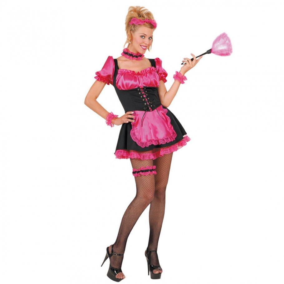 sexy Kostüm Französisches Zimmermädchen pink Kleid, 24,99 €