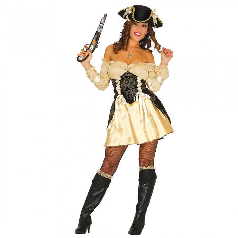 kost m sexy piratenbraut piratenkost m damen gold 24 99. Black Bedroom Furniture Sets. Home Design Ideas