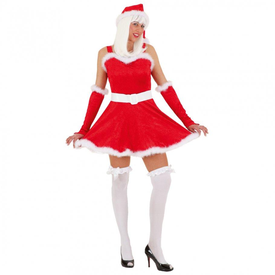 kost m weihnachtsfrau weihnachtskleid in rot. Black Bedroom Furniture Sets. Home Design Ideas