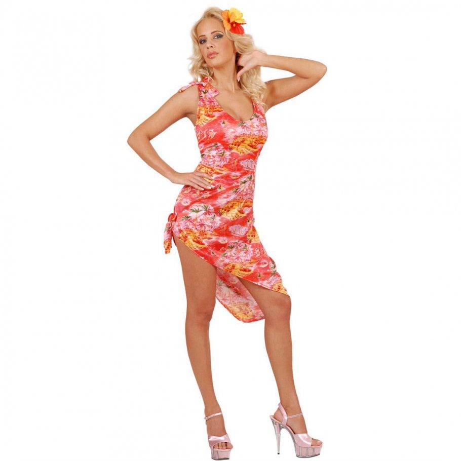 Kleid mit hawaii blumen
