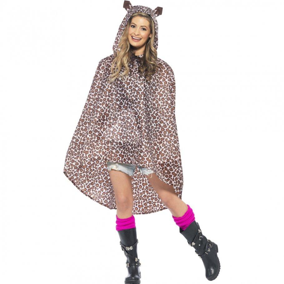 leopardenkost m poncho regenponcho regenmantel regenjacke party ponchos 15 99. Black Bedroom Furniture Sets. Home Design Ideas