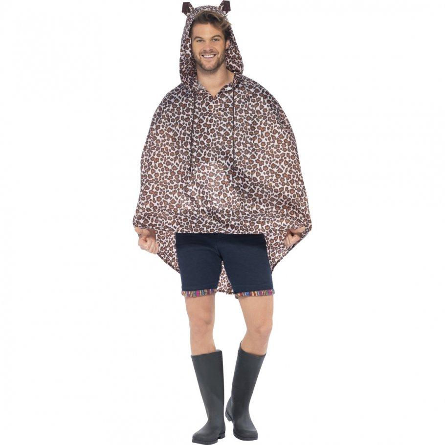 leopardenkost m poncho regenponcho regenmantel regenjacke party ponchos 14 99. Black Bedroom Furniture Sets. Home Design Ideas
