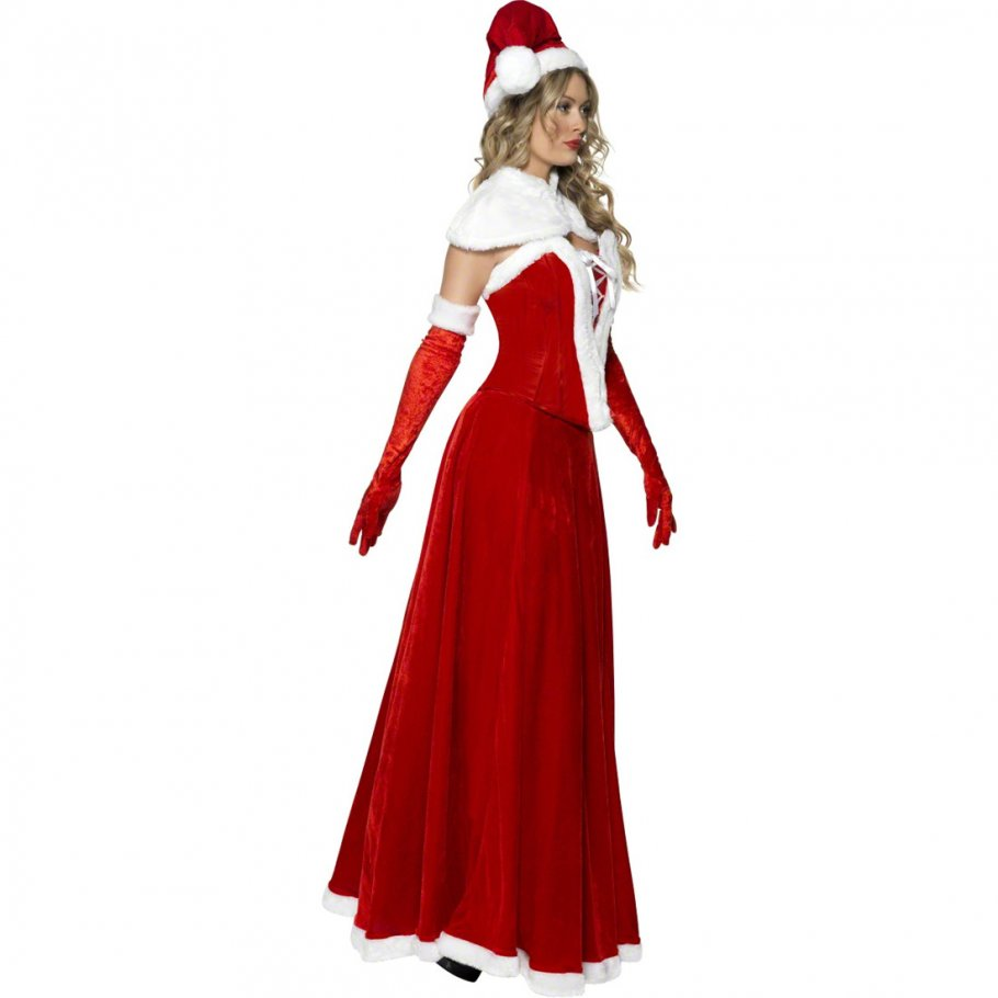 miss santa kost m weihnachtsfrau kleid weihnachtskleid. Black Bedroom Furniture Sets. Home Design Ideas