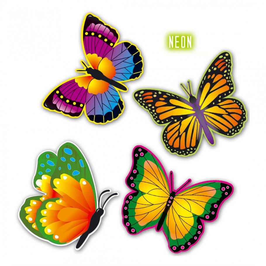 neon schmetterlinge butterfly deko 32 cm schmetterlingsdeko 3 99. Black Bedroom Furniture Sets. Home Design Ideas