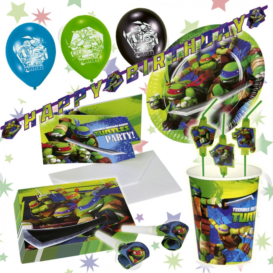 ninja turtles geburtstag dekoration mitgebsel kindergeburtstag partys. Black Bedroom Furniture Sets. Home Design Ideas