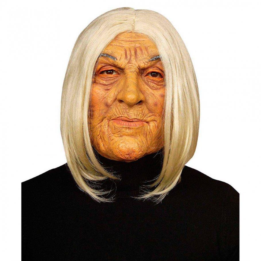 Oma-Maske-Alte-Frau-Omamaske-Gesichtmask