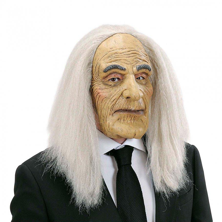 opa maske mit haaren alter mann faschingsmaske mit per cke diener latexmaske 14 99. Black Bedroom Furniture Sets. Home Design Ideas