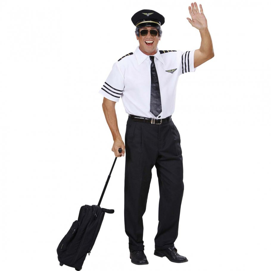 pilotenkost m kapit n kost m set pilot hemd m tze krawatte piloten anzug jga striptease uniform. Black Bedroom Furniture Sets. Home Design Ideas