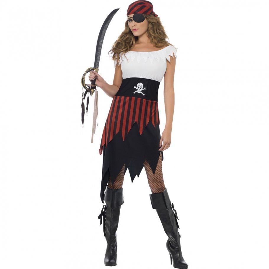 piratin kost m piratenbraut m 40 42 damen piratenkost m piraten outfit seer uberin freibeuterin. Black Bedroom Furniture Sets. Home Design Ideas