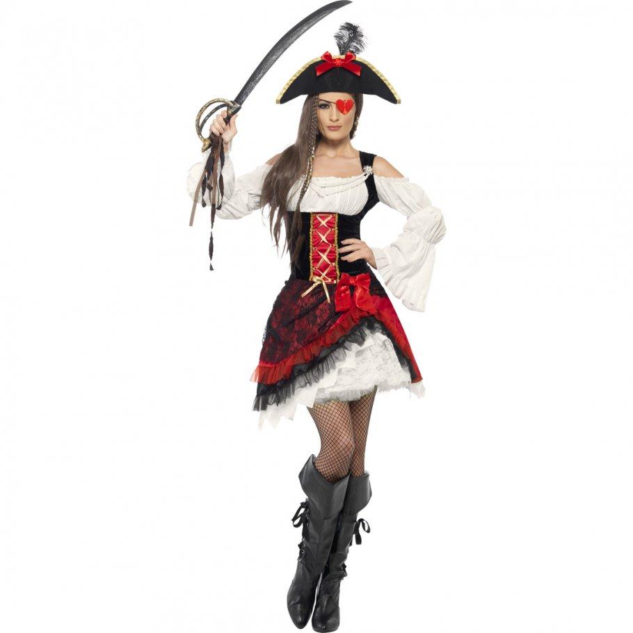 piratin kost m piratenkost m damen piratinnenkost m. Black Bedroom Furniture Sets. Home Design Ideas