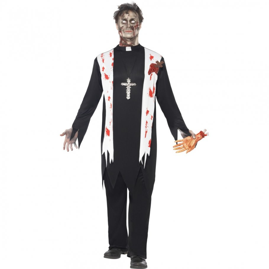 priester zombiekost m zombie kost m kloster priesterkost m horror pastor halloweenkost m monster. Black Bedroom Furniture Sets. Home Design Ideas