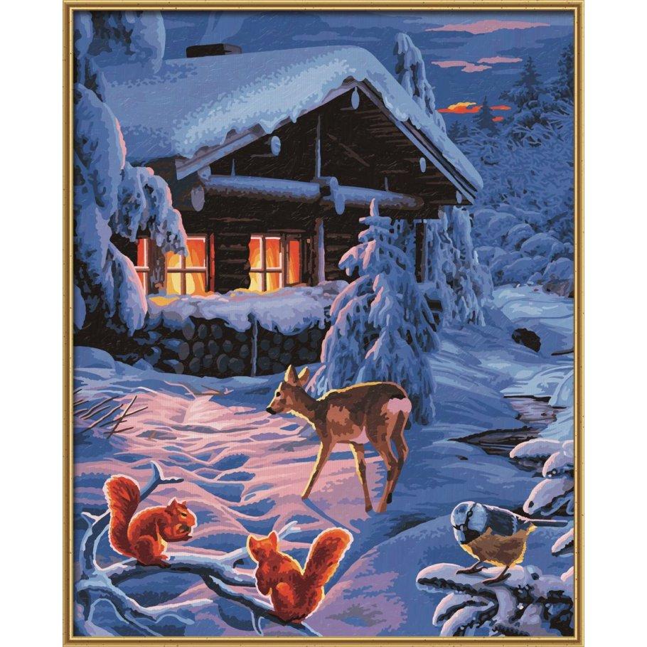 romantische winternacht malen nach zahlen schipper 29 49. Black Bedroom Furniture Sets. Home Design Ideas