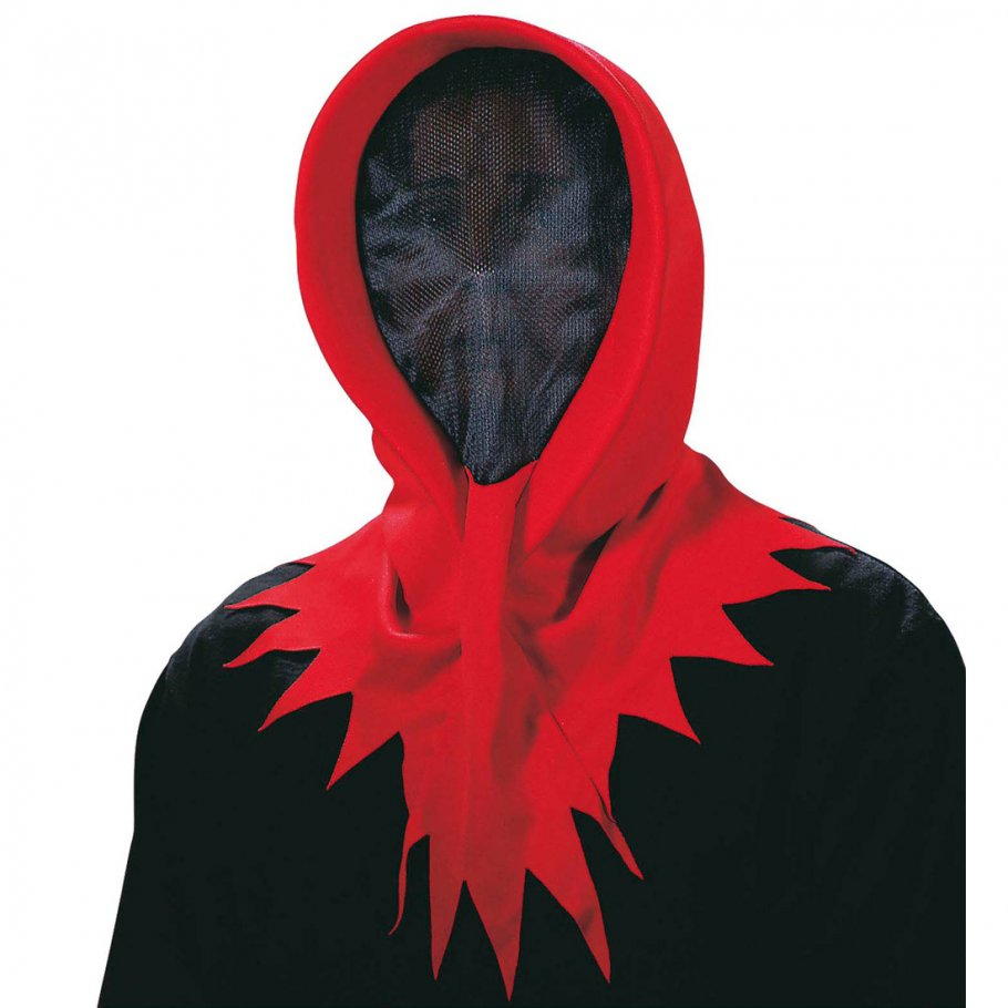 masken f r halloween horror maske rot ohne gesicht 5 99. Black Bedroom Furniture Sets. Home Design Ideas