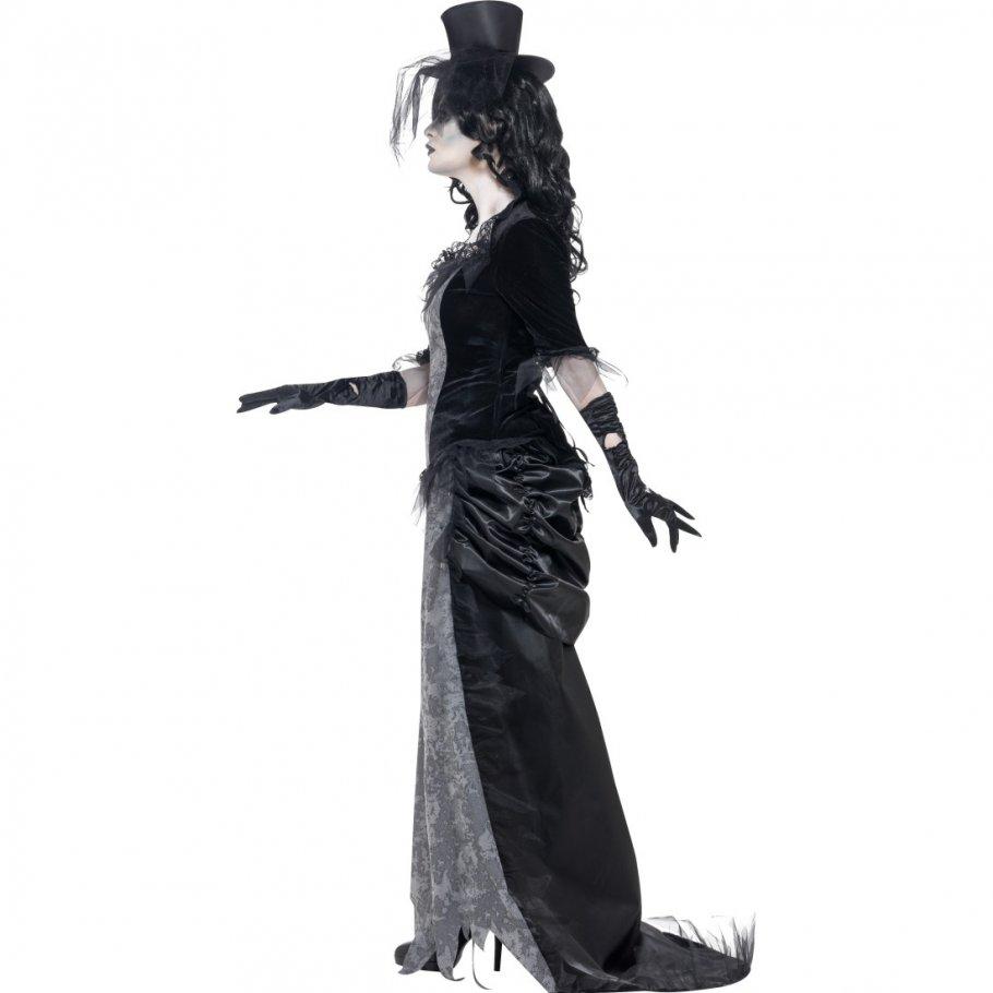schwarze witwe damenkost m geist kost m gothic zombie geisterkost m geister frau halloweenkost m. Black Bedroom Furniture Sets. Home Design Ideas