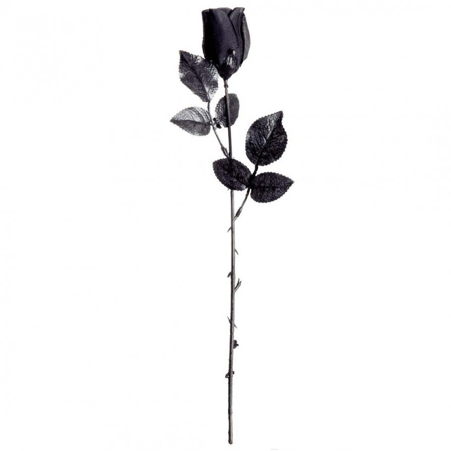 schwarze gothic rose kunstblume deko blume 44 cm 2 99. Black Bedroom Furniture Sets. Home Design Ideas